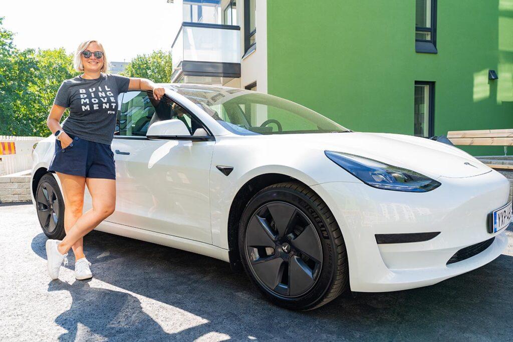 Koskelan Lehmuksen yhteiskäyttöautoksi valittiin Tesla